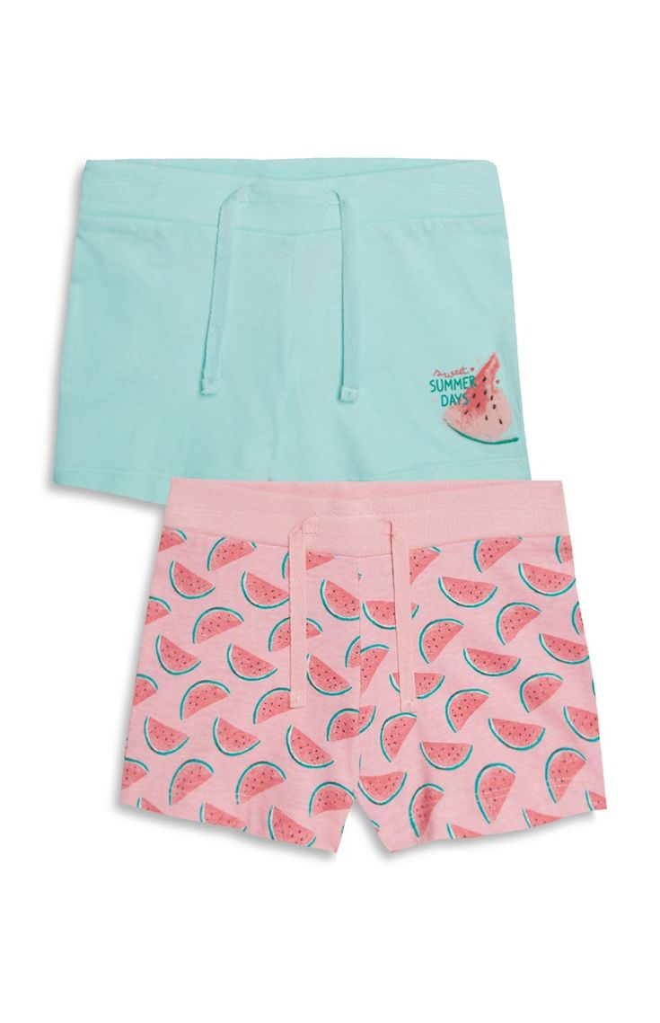Primark - Younger Girl 2Pk Watermelon Short