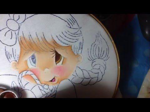 Pintura en tela niña limon # 1 con cony - YouTube