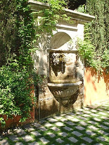 Wall Fountain in courtyard - I know i'm dreaming but maybe one day