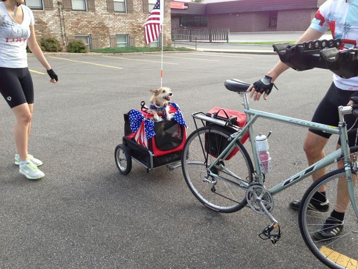 Showing his Patriotism on the 35 mile 4th of July ride