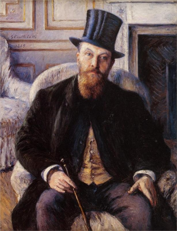 Portrait of Jules Dubois, 1885 Gustave Caillebotte