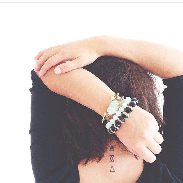 Glyph tattoos, small neck tattoos #smalltattoo #glyph #womentattoos #necktattoo #symbols #geometric