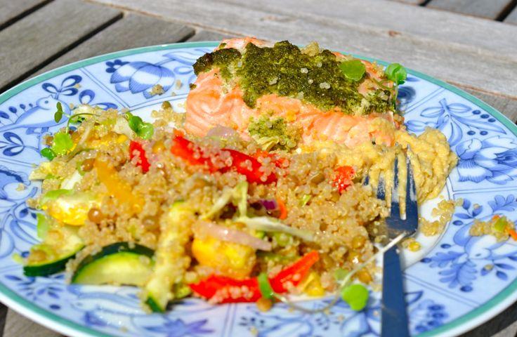 Lac, pesto, quinoa