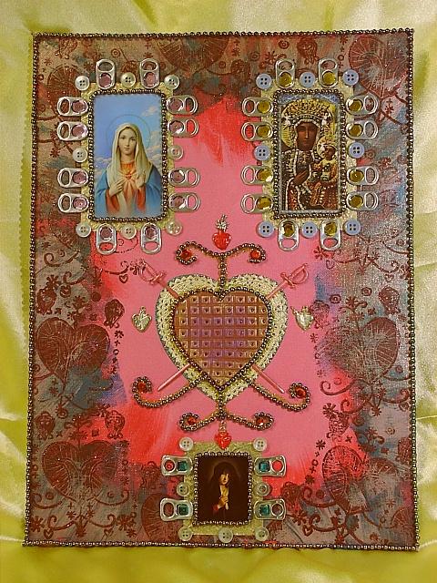 Erzulie Altar Piece by Vicereine Permelia Apollonia Siverling De Bruchhausen