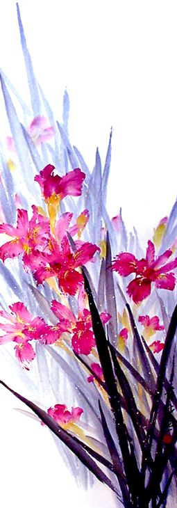 Iris ~ The Art of James Tan ~ Chinese ink & Colour on Rice paper