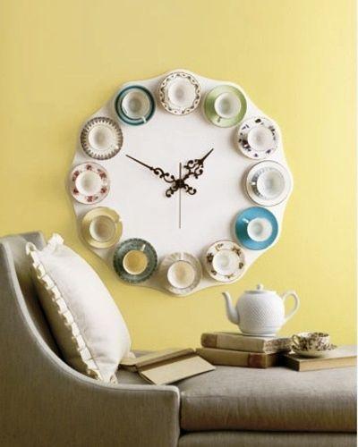 часы своими руками с чайными чашками