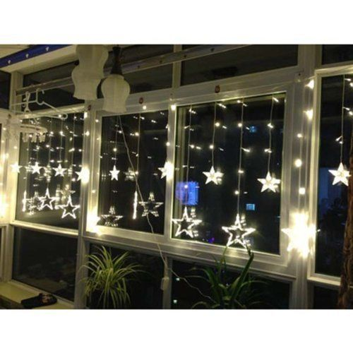 Fairy String Light Waterproof Curtain Outdoor Christmas Decoration 138 Star LED