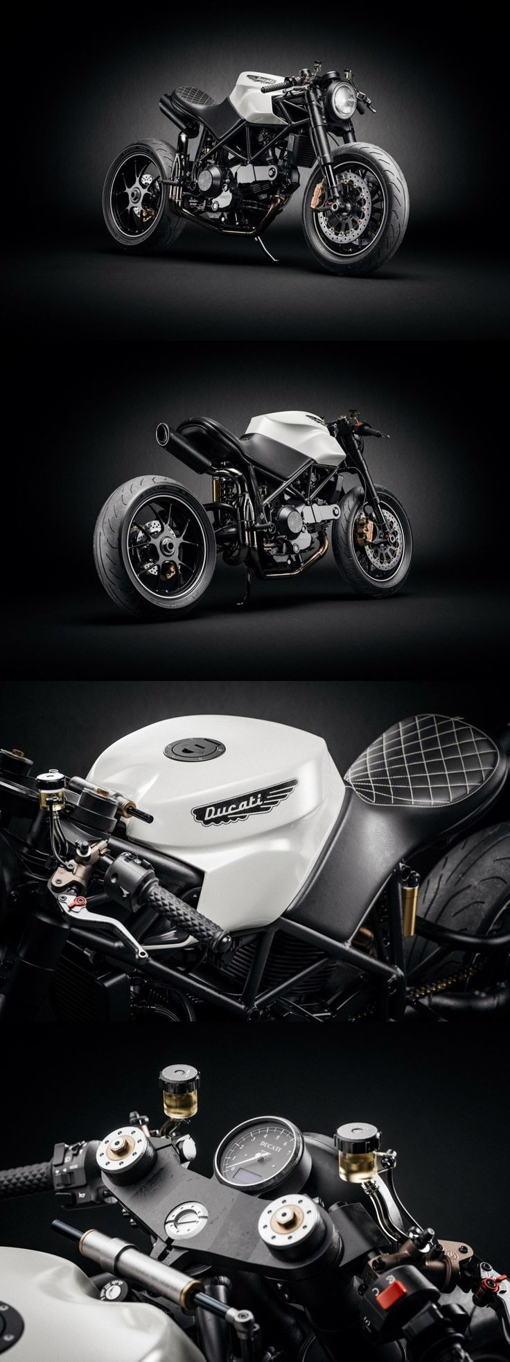 Amazing Ducati 916 Custom Café Fighter. More images at: http://bikebrewers.com/ducati-916-custum-cafe-fighter/  #demenciaendosruedas