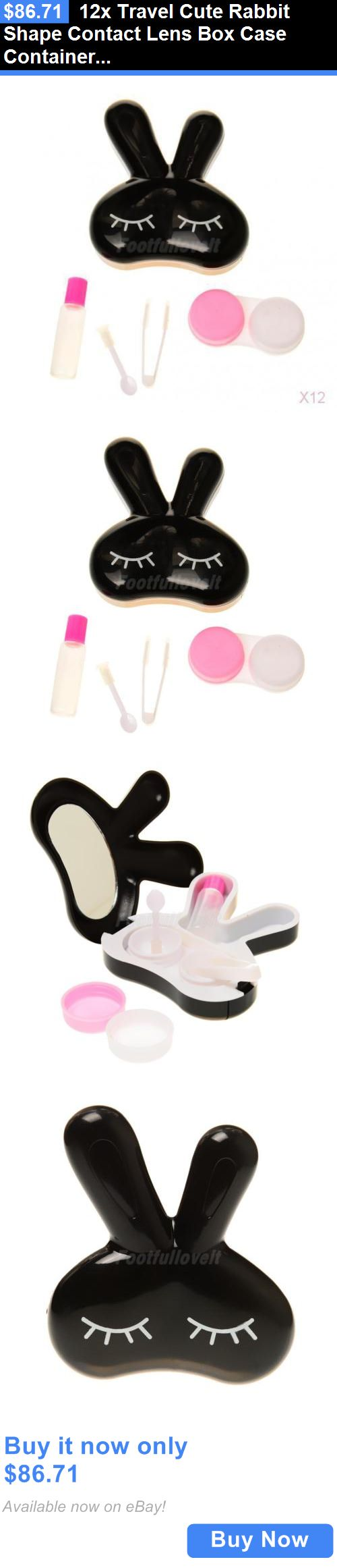 Contact Lens Cases: 12X Travel Cute Rabbit Shape Contact Lens Box Case Container Holder Soak Storage BUY IT NOW ONLY: $86.71