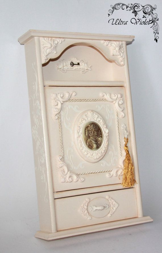Key box with small drawers