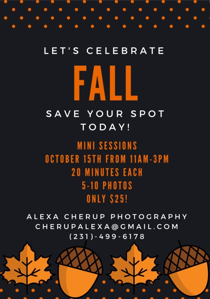 Alexa Cherup Photography will be hosting their first Fall Mini Sessions at only…