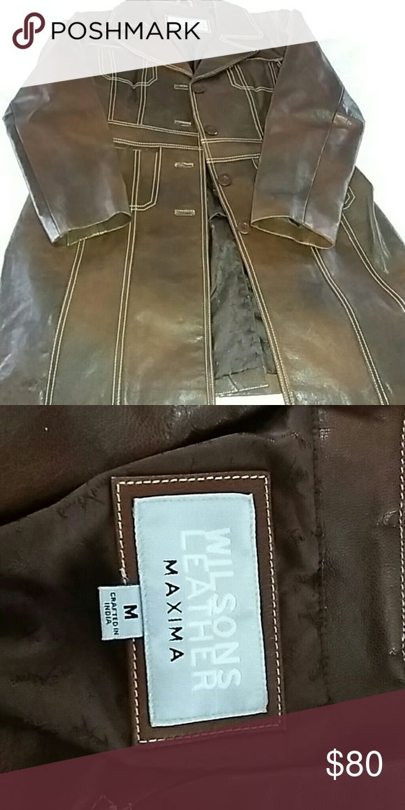 Women's  Brown leather jacket Brown leather womens Wilsons Leather Jackets & Coats Pea Coats