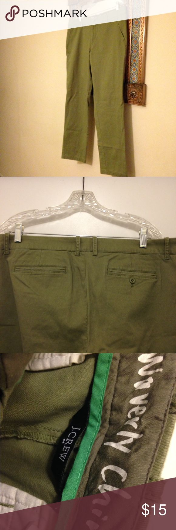 J Crew Factory Chinos Brand new with tags olive green chackis J. Crew Factory Pants Trousers