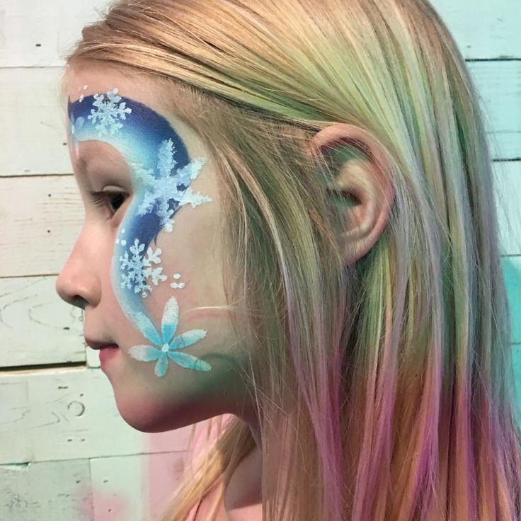 Ice princess face paint