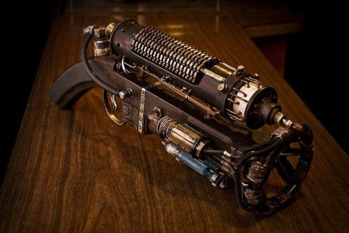 Pinner said: Scary electric gun. Might have to make one for Floyd to get him to stop using knives.