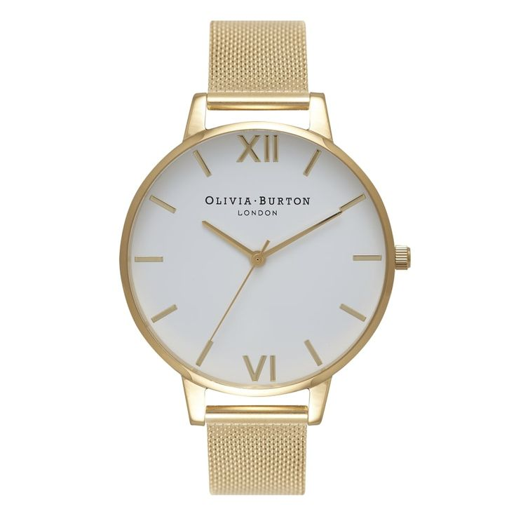 Big Dial Gold Mesh Watch | Olivia Burton London