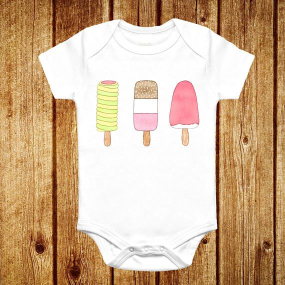 Ice Lolly Baby Toddler Vest  Cute Retro Twister Fab