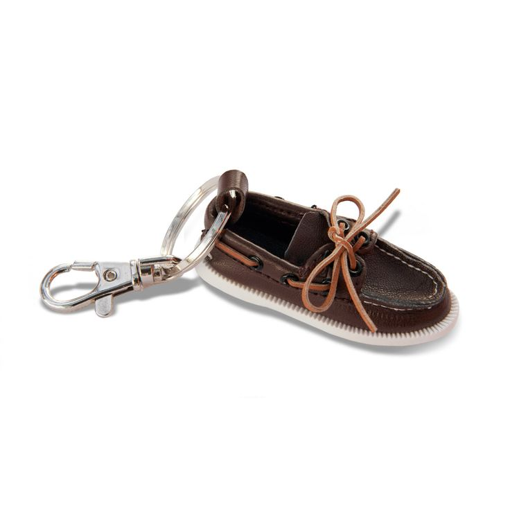 Sperry Top-Sider  Authentic Original Classic Brown Boat Shoe Key Chain - Your favorite Sperry Top-Sider can now fit in your pocket! #sperrytopsider #sperrys