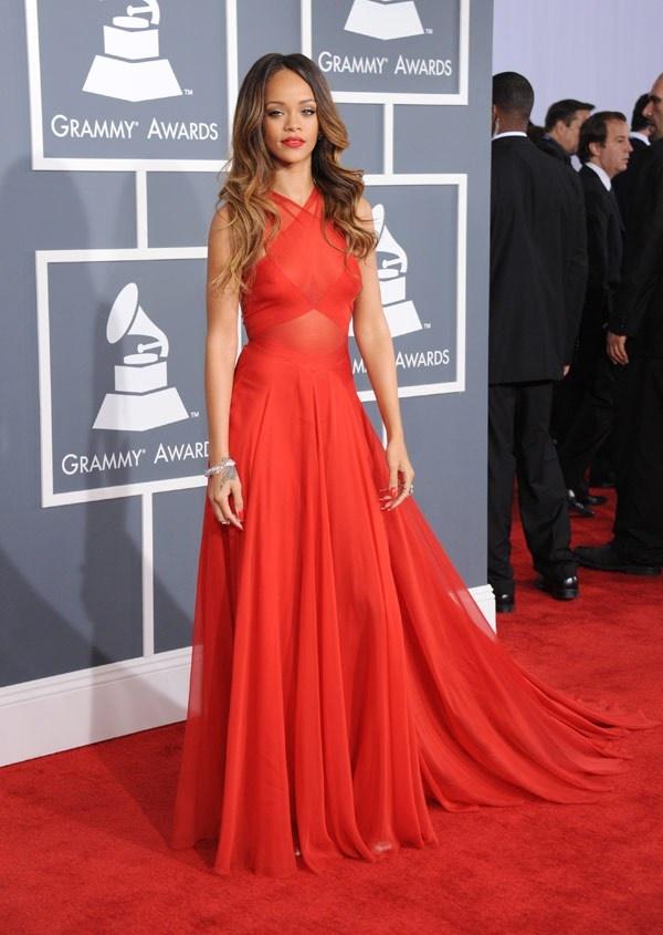 Rihanna Grammys 2013 Red Carpet Arrivals