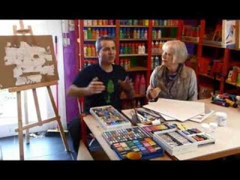 Pastels sur fonds texturés Brigitte Corseaux pastelliste fabuleuse vous révèle comment utiliser des pastels secs et gras sur des fonds texturés  sur www.beauxarts.fr