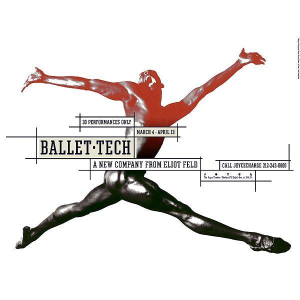 © Paula Scher / Collection d'affiches contemporaines - Ville de chaumontBallet Tech Saison 1998