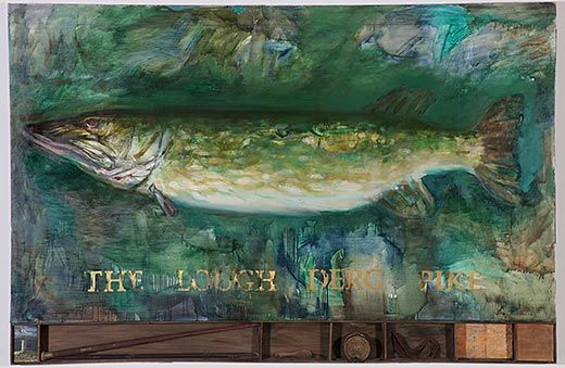 """Barrie Cooke-""""The Lough Derg Pike"""", many of his works have a environmental aspect, very painterly painter.."""