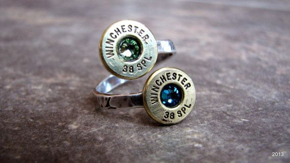 Bullet Ring- Couples Ring- Mothers Ring- Birthstone Ring- Ammo Ring- Mommy- Personalized Ring- Reclaimed- Eco Friendly- Boyfriend-Girlfriend on Etsy, $23.50