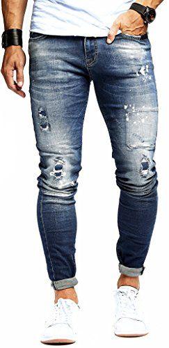 LEIF NELSON pour des Hommes Pantalon Jeans Stretch Jeans Pantalon de Loisir  Denim Slim Fit LN9960BL 8bde4bf431