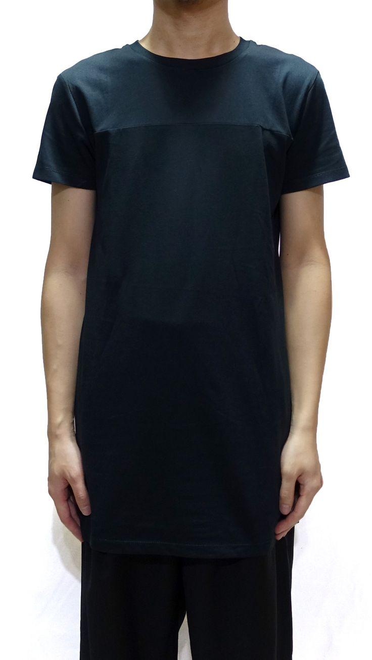Black t shirt front and back plain - Odeur Plain T Shirt In Black