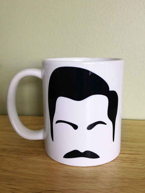 Ron Swanson Coffee Mug | 13 Ron Swanson Etsy Finds! For Stephen