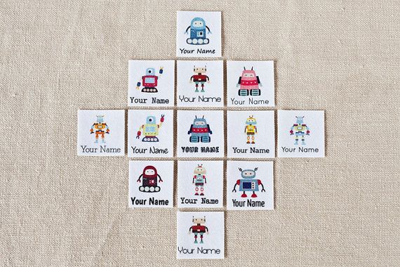 Adorable iron-on personalized clothing labels ... perfect for preschool