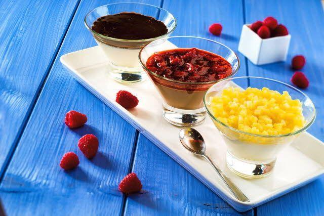 Панна Котта с кокосовым молоком и релишем из ананаса и имбиря > Летнее меню | Unilever Foodsolutions