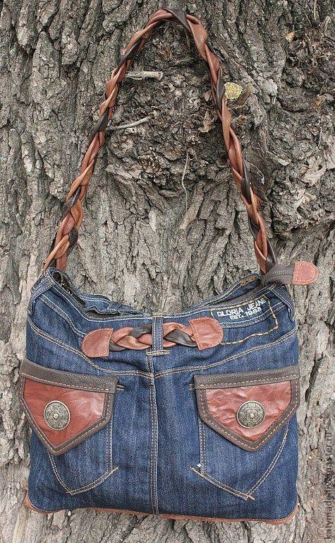 Купить Джинсовая реинкарнация..... сумка из джинсов - синий, сумка из джинсов, хиппи стиль, переделка, хиппи