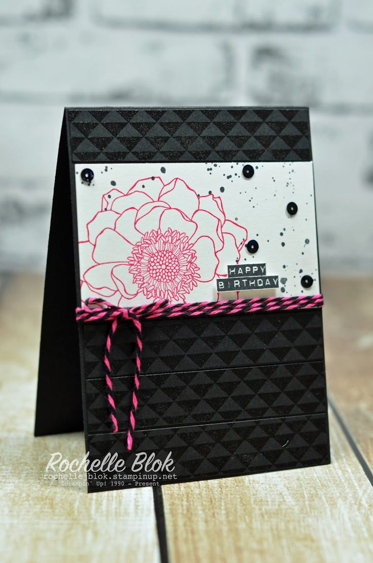 The Stamping Blok: #TGIFC 50 | Stampin' Up! Blended Bloom | Sketch Challenge | Rochelle Blok