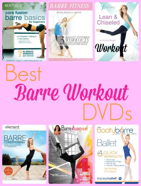 Try a barre workout from the comfort of home with these top 6 barre DVDs!