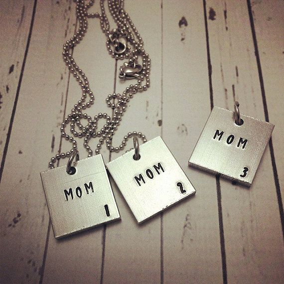 Mom Scrabble Tile - Personalized Necklace - Hand Stamped Scrabble Tile Mommy Jewelry - Scrabble Tile Jewelry - Scrabble Tile Necklace