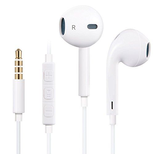 Earbuds white with mic - apple wired earbuds with microphone