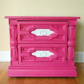 The Furniture Fanatic: PINK! Hot Pink Dresser