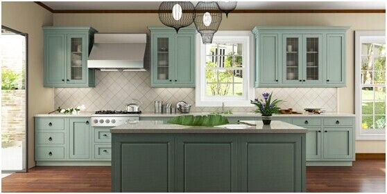 one wall kitchen layout with island - Google Search