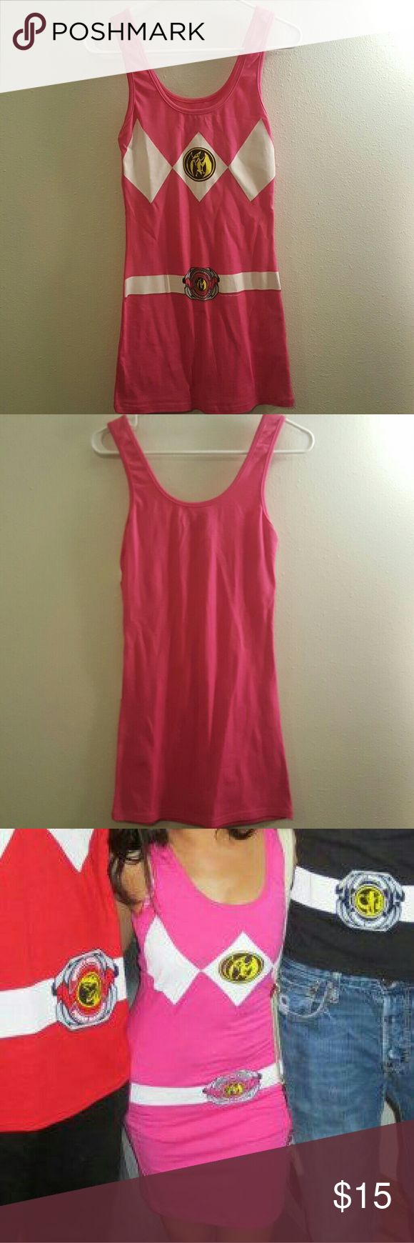 Pink Power Rangers dress For a themed party or Halloween! Says M but fits like a S. Worn once! Dresses Mini