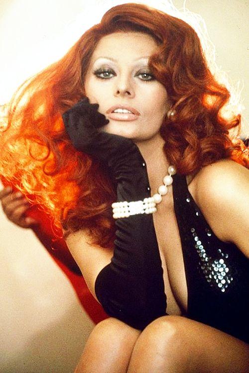 Sophia Loren in a promotional photo for La pupa del gangster (Sex Pot), 1975.