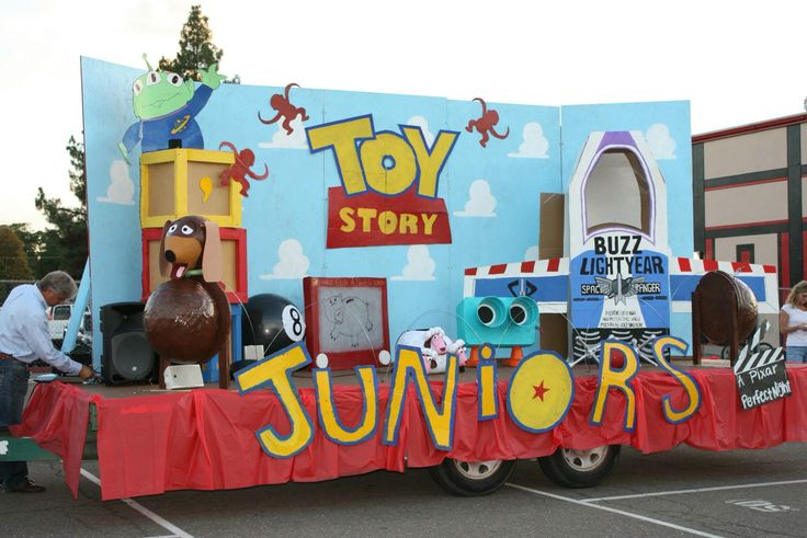 Handmade toy story homecoming float from last year