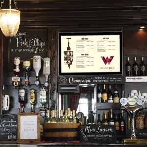 This 55″ Digital Menu Board is the perfect addition to your food and beverage business. Available with either a wall bracket or ceiling bracket, you can easily install this 55″ digital menu board in your restaurant, cafe, coffee shop, canteen and any other food and beverage related business in either portrait or landscape: http://www.eclipsedigitalmedia.co.uk/shop/digital-menu-boards/55-digital-menu-board-including-bracket/