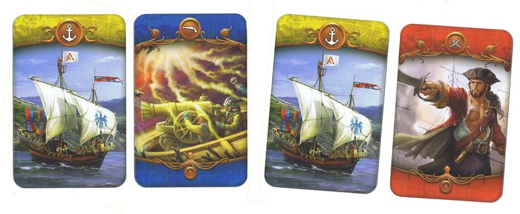 "Cards from ""Pirackie korony"" by HobbyGames"