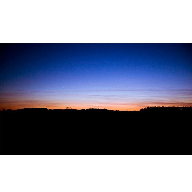 Sunset over glamsbjerg denmark