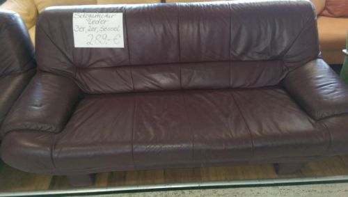 ledergarnitur rot braun 3 2 1bei kauf rechnung mit. Black Bedroom Furniture Sets. Home Design Ideas