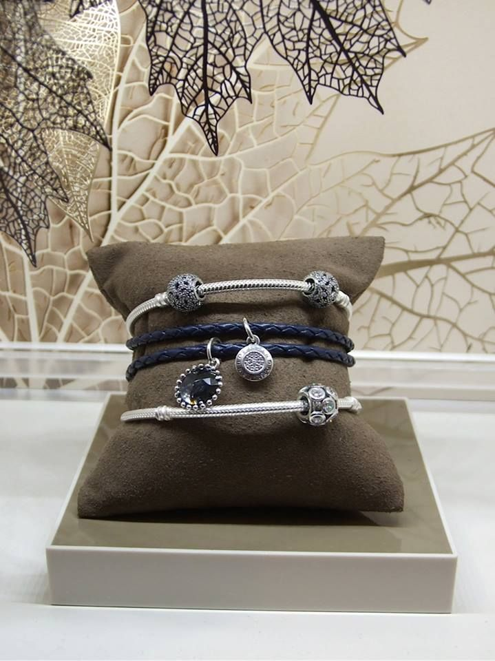 Pandora releases new leather bracelet in navy blue to compliment its Midnight Star collection & Signature Pendant