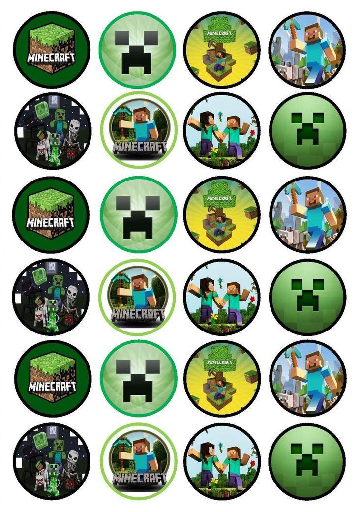 Minecraft Cupcake Toppers cakepins.com