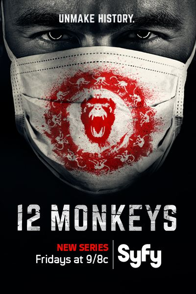 12 Monkeys (2015– ) Follows the journey of a time traveler from the post-apocalyptic future who appears in present day on a mission to locate and eradicate the source of a deadly plague that will eventually decimate the human race. With Aaron Stanford, Amanda Schull, Noah Bean, Kirk Acevedo.