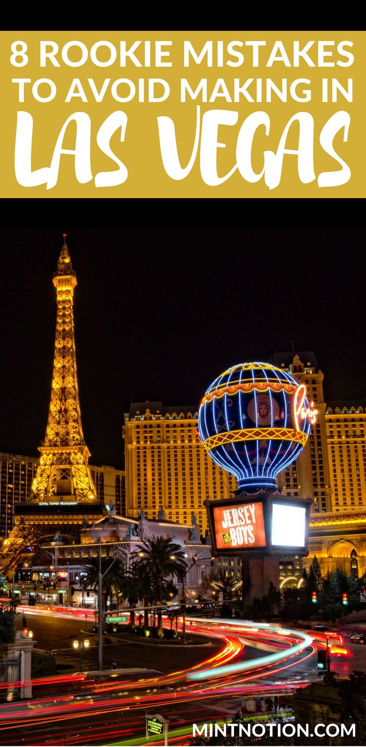 Visiting Las Vegas for the first time?Avoid making these common tourist mistakes on the Strip. Use these travel tips to save money on things to do in Las Vegas so you can enjoy your holiday for cheap! #vegastrip #vegasvacation